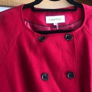 Short sleeve blazer top with matching skirt